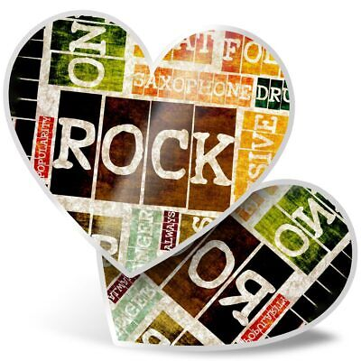 2 X Heart Stickers 7.5 Cm - Retro Rock And Roll Music Band  #8201 • 2.49£
