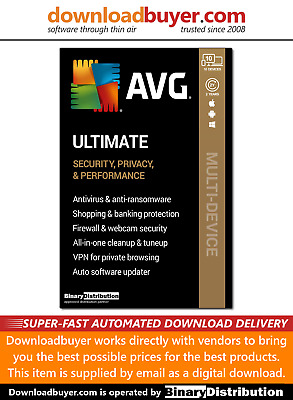 AVG Ultimate 2020 With Secure VPN - 10 Devices - 2 Years [Download] • 24.48£