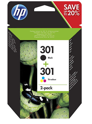 Original Genuine HP 301 Black & Colour Ink Cartridges For Deskjet 2540 Printer • 38.90£
