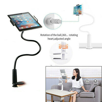 360° Gooseneck Table Bed Clamp Stand Holder Mount For IPad Phone Tablet Long Arm • 11.99£