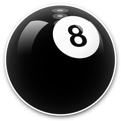 2 X Vinyl Stickers 7.5cm (bw) - Awesome 8 Ball Pool Snooker  #38817 • 2.49£