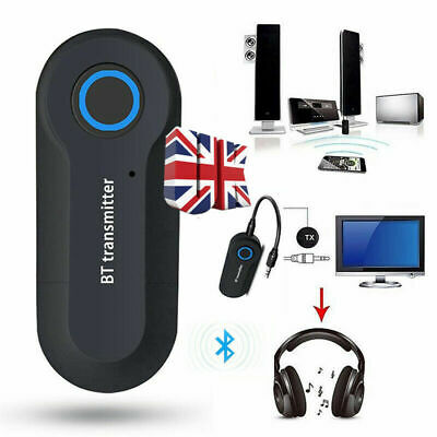 USB Bluetooth V4.2 Stereo Audio Transmitter 3.5mm Music Dongle Adapter Home • 4.85£