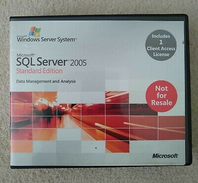 Microsoft SQL Server 2005 Standard Edition 32-bit X86 Includes 1 CAL • 9.99£