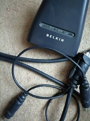 Belkin 2 Port KVM Switch USB With Built In Cabling FDK102P • 3.99£
