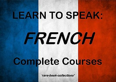 Learn To Speak French Fast - 10 Books & 110 Hrs Mp3 Audio Language Course On Dvd • 2.99£