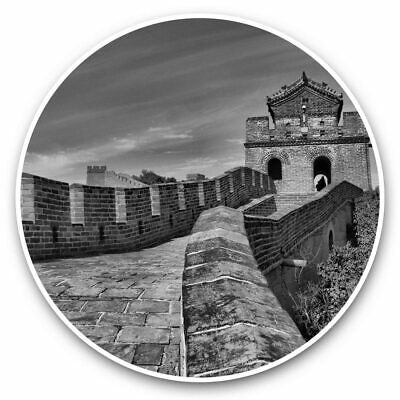 2 X Vinyl Stickers 30cm (bw) - Great Wall China Historical  #35716 • 8.99£