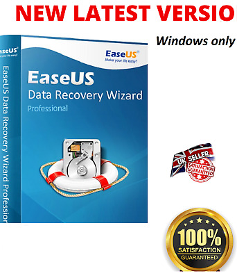 EaseUS Data Recovery Wizard V13.2  Full Version- Lifetime License  Fast Delivery • 4.80£