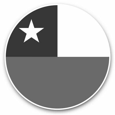2 X Vinyl Stickers 25cm (bw) - Cool Chile Flag Map  #41680 • 7.99£