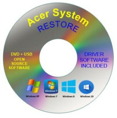 Acer System Recovery Boot Repair Restore DVD Disc Windows 10 8 7 Vista XP • 1.99£