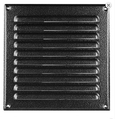 Metal Air Vent Grille  Antique Silver With Fly Net Screen  250mmX 250mm MTA10 • 8.99£