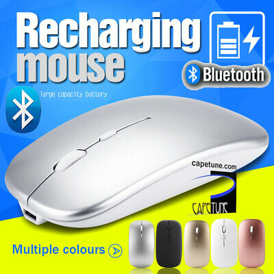 Slim Rechargeable Bluetooth Wireless Mouse For Tablets PC's IPad Andoid Surface • 19.99£