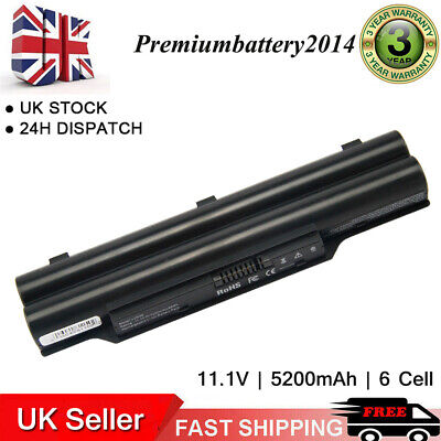 Notebook BATTERY 5200mAh Black For Fujitsu LifeBook A512, A532, AH512 AH530 US • 13.99£