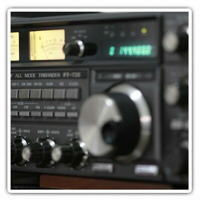 2 X Square Stickers 7.5 Cm - Amateur Radio Station Cool Gift #44076 • 2.49£