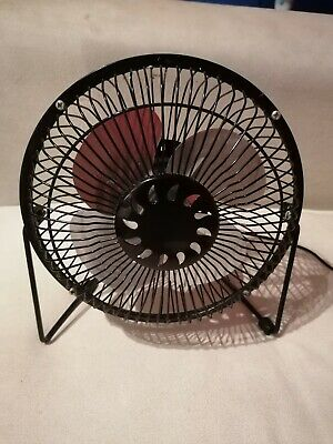 Black USB Desk Fan • 9.95£