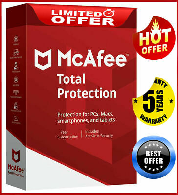 McAfee Total Protection 2020 1 Device 5 Year Antivirus Fast Dєlivєry📥 • 1.99£