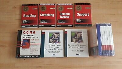 Cisco CCNA/CCNP Book Selection (12 Books Plus CDs And Simulator) • 35£