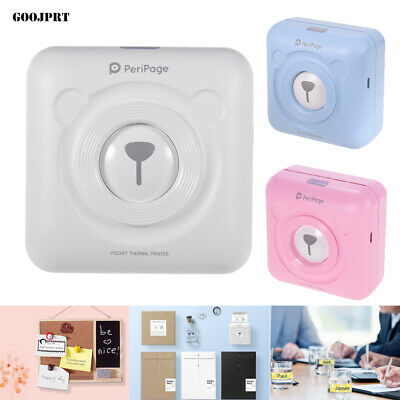 GOOJPRT PeriPage Mini Pocket Thermal Printer Wireless Picture Photo Label USB • 28.49£