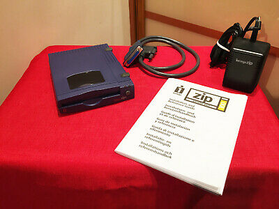 Iomega External Parallel ZIP 100 MB Drive + Original Cable, PSU.  Pristine Cond. • 20£