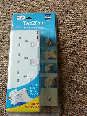New Socket Adapter For Double Plug With Surge Protection • 9.99£