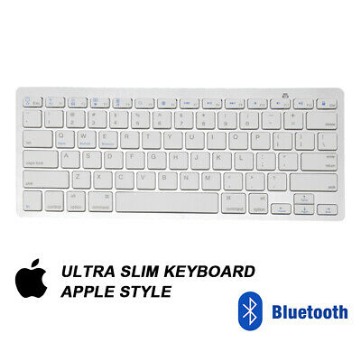 NEW Slim Wireless Bluetooth Keyboard For Apple IMac IPadAndroid Phone Tablet  UK • 8.49£