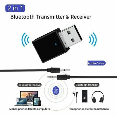 USB Bluetooth 5.0 Audio Transmitter Receiver Adapter For TV PC Car AUX Speaker • 3.70£