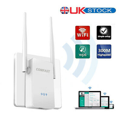 WiFi Range Extender Super Booster 300Mbps Superboost Speed Wireless Repeater UK • 15.89£