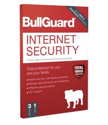 Bullguard 2020 Internet Security 3 User 1 Year License For PC, MAC And Android • 15.99£