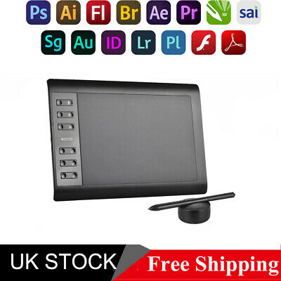 Bosto 10x6  Digital Graphics Drawing Tablet PC Artist Board Painting Pad 10''*6  • 34.59£