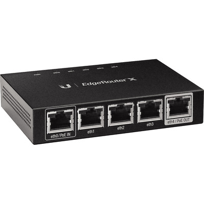 **SUPER FAST DELIVERY** THE NEW GENUINE UBIQUITI **EdgeRouter X Wired Router**  • 49.99£