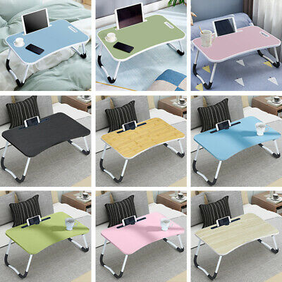 Folding Laptop Table Stand Bed Computer Desk Bed Picnic Stand Notebook Tray Home • 12.99£