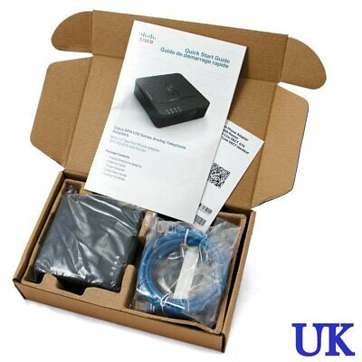NEW Cisco SPA122 ATA With Router - VoIP Adapter • 43.49£