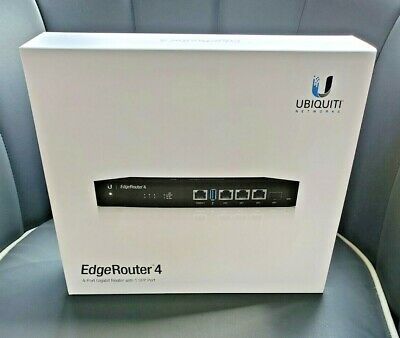 **FREE SUPERFAST DELIVERY** EdgeRouter 4 - Gigabit + 1 SPF Router **BRAND NEW** • 184.99£