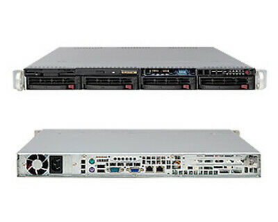 Supermicro CSE-813MTQ-350CB 1U Rack Mount Case Black 350W 4 X 3.5  Hot-swap  • 135£