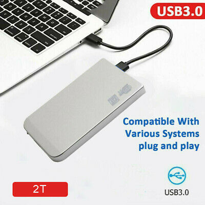 2TB USB 3.0 External Hard Drive Disk HDD 2.5'' For PC Laptop Desktop Portable Uk • 23.89£