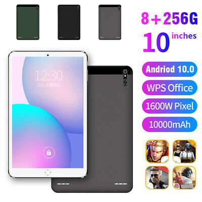 10.1  Inch Tablet PC HD Android 10.0 8+256GB WIFI Dual SIM Camera GPS Phablet • 60.59£