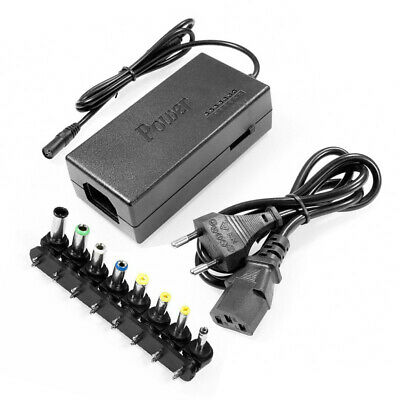 96W Universal Laptop Notebook Power Supply Charger 12/15/16/18/19/20/24V UK • 7.99£