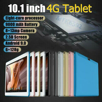 10.1  Tablet PC Android 9.0 6G+128GB 4G-LTE 10 Core WIFI Dual SIM Camera Phablet • 50.59£