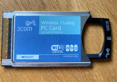 3Com PCMCIA Wireless LAN PC Card With XJACK Antenna 3CRPAG175 • 30£
