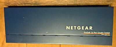 NETGEAR Prosafe GS116v2 16-Port Gigabit Network Switch 10/100/1000 • 25£