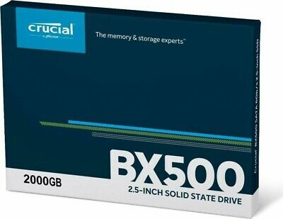 Crucial BX500 2.5  2TB SATA III Solid State Drive Manufacturer's 3 Year Limited • 159£