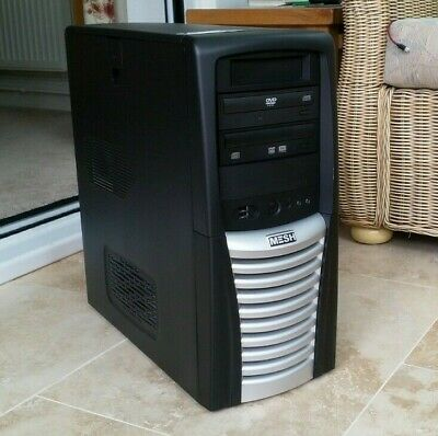 CHIEFTEC BLACK SILVER MID ATX 2000s LOCKABLE CASE FREE POSTAGE • 40£