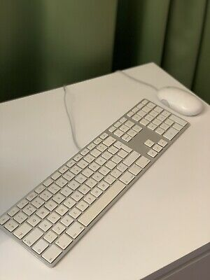 Apple Mac Genuine A1243 Wired Keyboard And Mouse • 12£