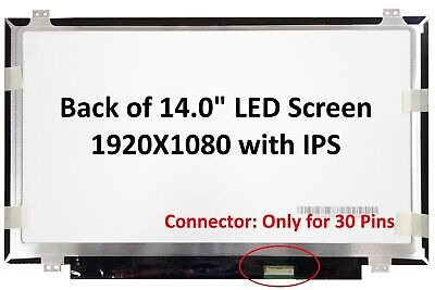 14.0  IPS FHD (1080P) Laptop Screen Compatible With NV140FHM-N45 .NV140FHM-N43 • 49£
