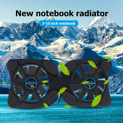 Portable Collapsible Laptop Cooler USB Dual Fan Cooling Pad For Notebook PC • 4.99£