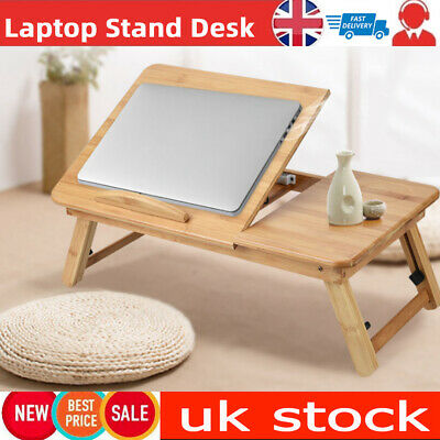 Foldable Laptop Table Tray Stand Lap Sofa Bed Adjustable Notebook Study PC  Desk • 12.99£