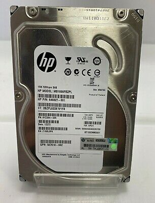 1 X HP 1TB 3.5  7200RPM SAS Hard Drive (MB1000FBZPL) ***** TESTED WORKING ***** • 25£