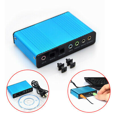 B External 6 Channel 5.1 Optical Sound Card Audio For Netbook Laptop PC • 13.04£