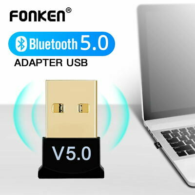 UK USB Bluetooth Adapter V5.0 Wireless Mini Dongle For Windows 7/8/10 PC Laptop • 4.59£
