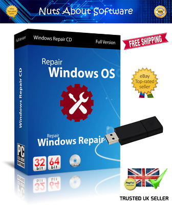 Windows 10 7 8 Xp Vista Pro Boot Usb Pc Repair Recovery Disc Hp Dell Acer • 9.75£