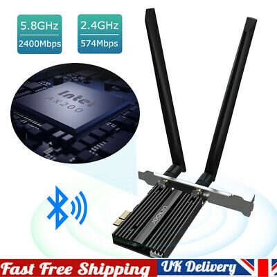 PCI-E Wifi 6 Adapter Desktop Wireless 3000Mbps Bluetooth 5.0 AX200NGW Wifi Card • 28.95£